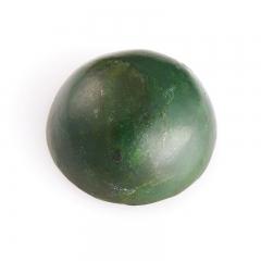 Кабошон нефрит зеленый Россия 12 мм