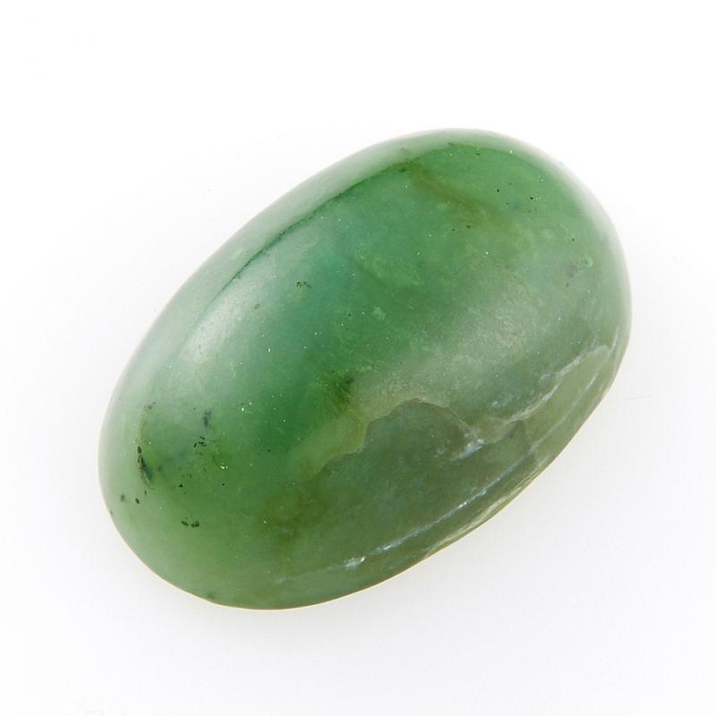 Кабошон нефрит зеленый  10*16 мм