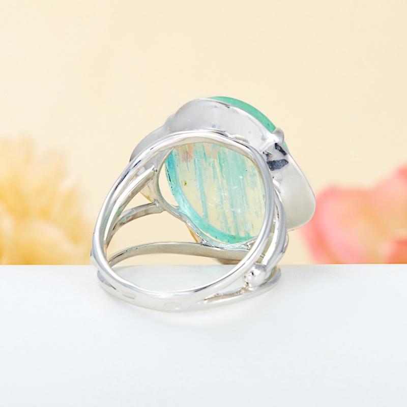 [del] Кольцо аквамарин Россия (серебро 925 пр.) размер 15