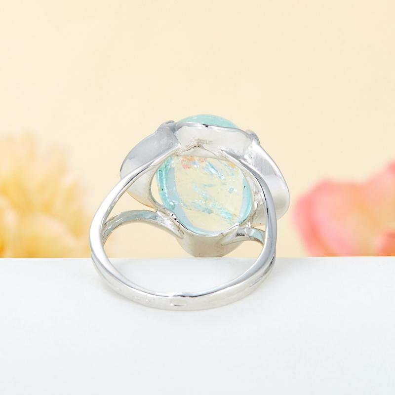 [del] Кольцо аквамарин Россия (серебро 925 пр.) размер 21