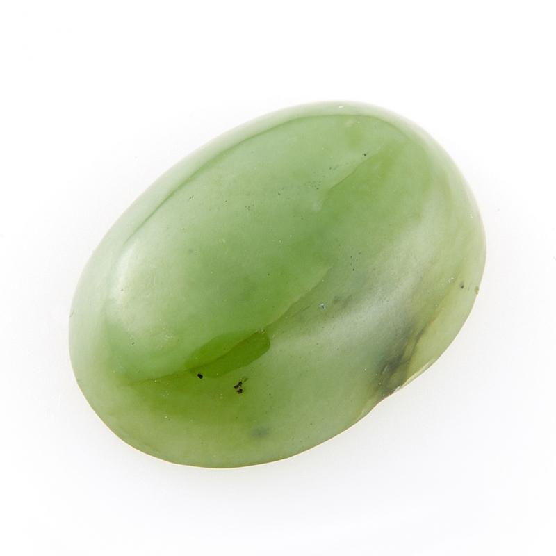 Кабошон нефрит зеленый  12*16 мм