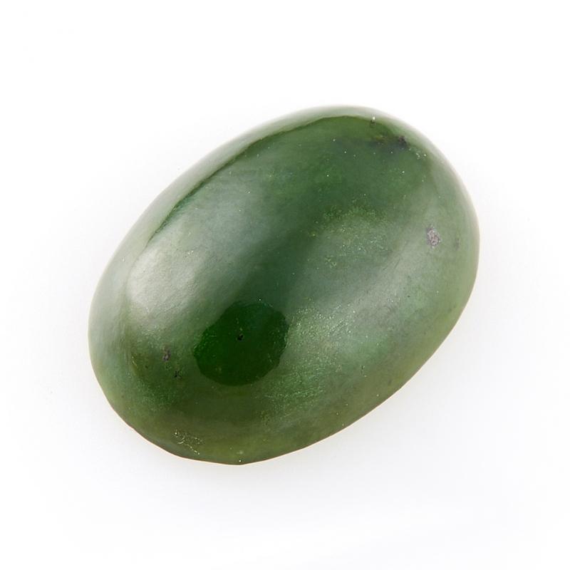 Кабошон нефрит зеленый Россия 12*16 мм