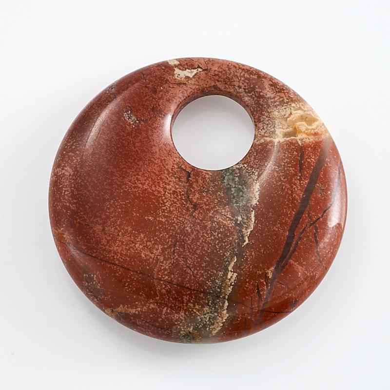 Кулон круг яшма брекчиевая 3 см браслет яшма рисунчатая 18 см