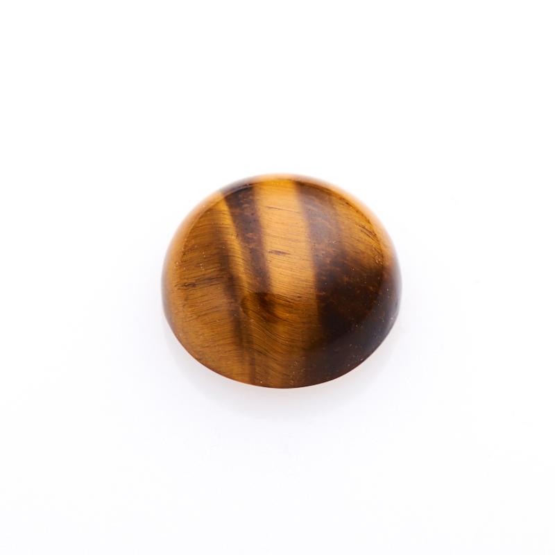 Кабошон тигровый глаз  10 мм