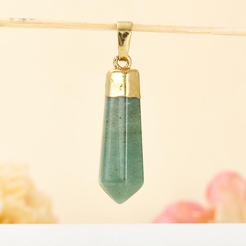 Кулон кристалл авантюрин  4 см