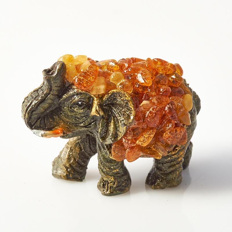 Слон янтарь  5х4х2 см бусы янтарь осенняя мелодия нян 157 1 4