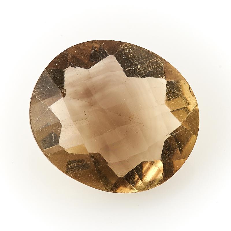 Огранка цитрин с раухтопазом  13*15 мм
