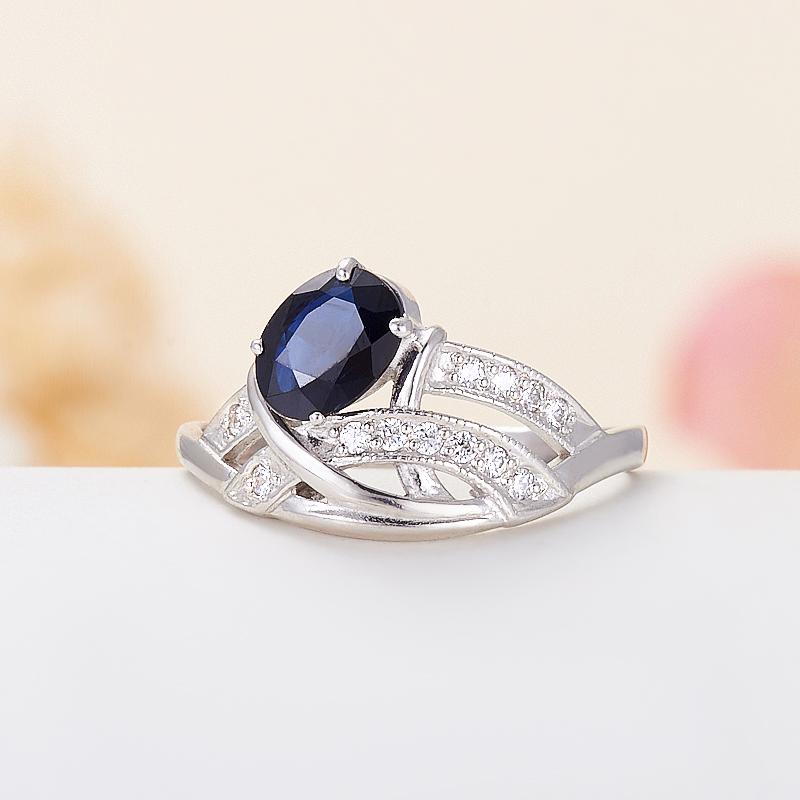 Кольцо сапфир  огранка (серебро 925 пр.) размер 16,5