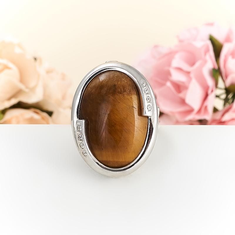 Кольцо тигровый глаз  (серебро 925 пр.) размер 18,5 кольцо сальвия тигровый глаз