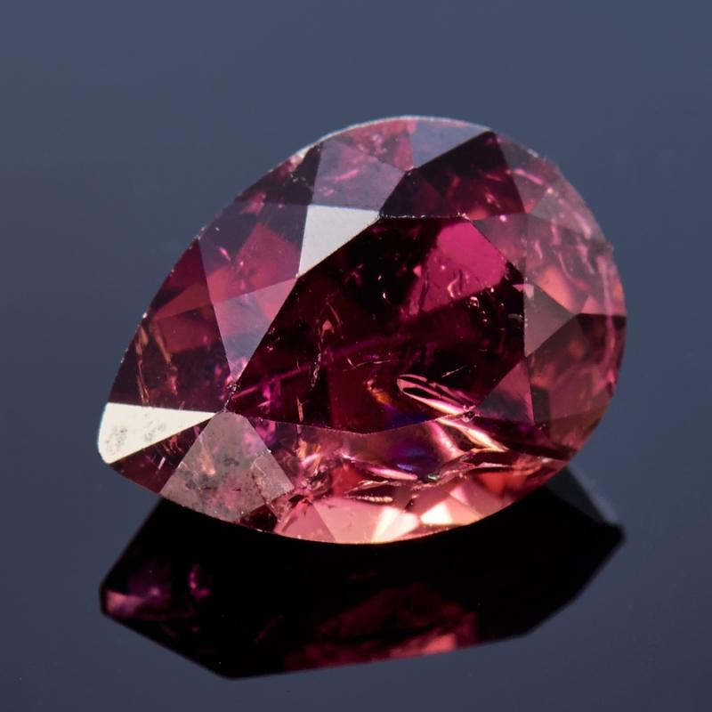 Огранка турмалин розовый (рубеллит)  5.5*7.5 мм