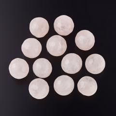 Бусина розовый кварц Намибия шарик 9,5-10 мм огранка (1 шт)
