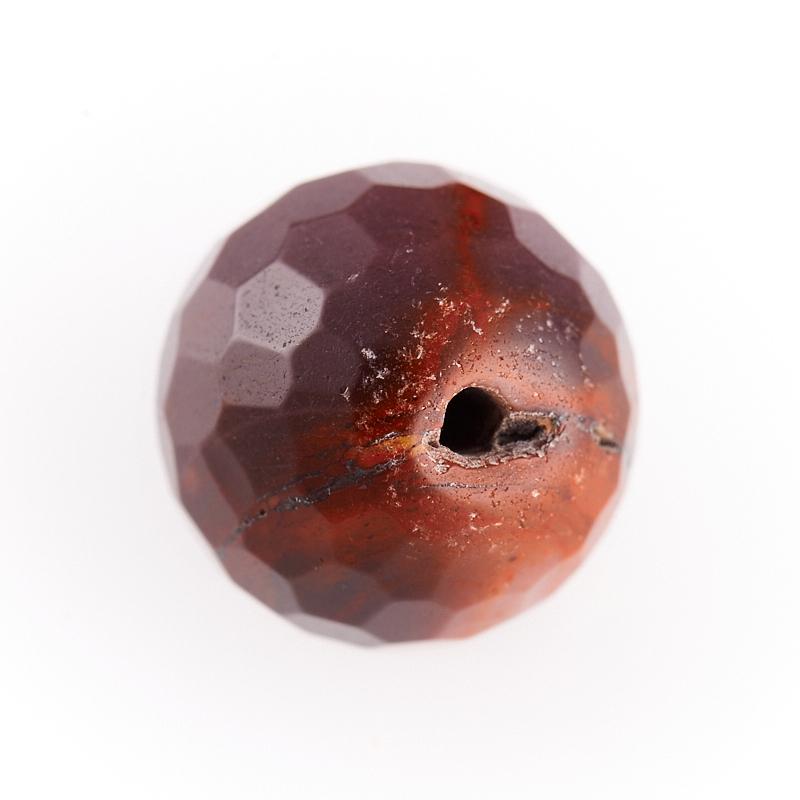 Бусина яшма мукаит бордовый  шарик 9,5-10 мм огранка (1 шт) бусина коралл красный сплюснутый шар 5 5 6 мм огранка 1 шт