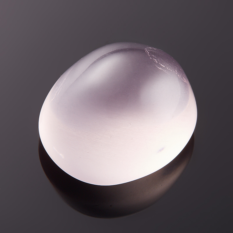 Кабошон розовый кварц 12*14 мм