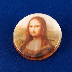 Брошь Мона Лиза селенит Россия 4 см