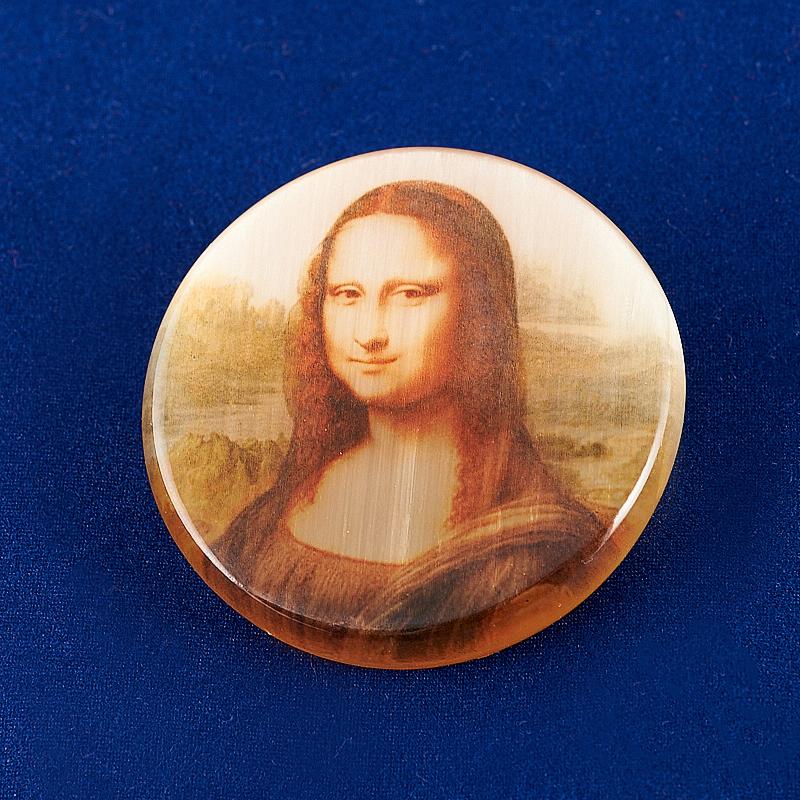 Брошь Мона Лиза селенит 4 см серьги мона лиза