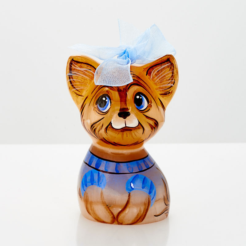 Собака Йоркширский терьер селенит 6,5-7 см мягкая игрушка собака hansa йоркширский терьер искусственный мех коричневый 36 см 5909