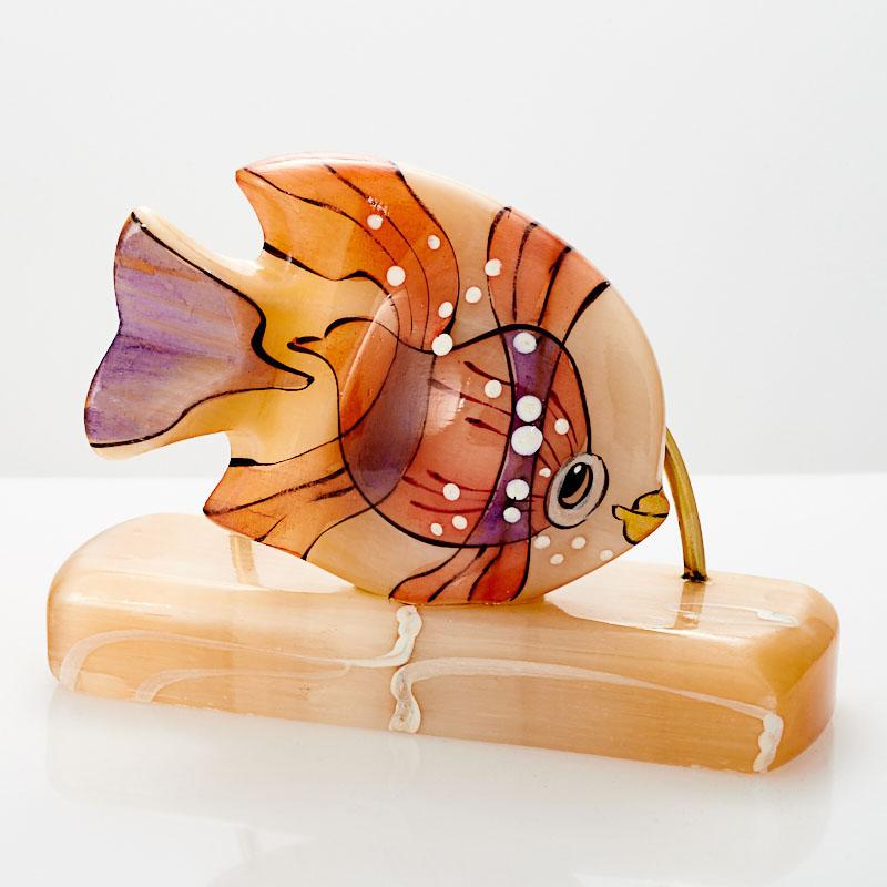 Визитница Рыбка селенит  7,5x10,5 см