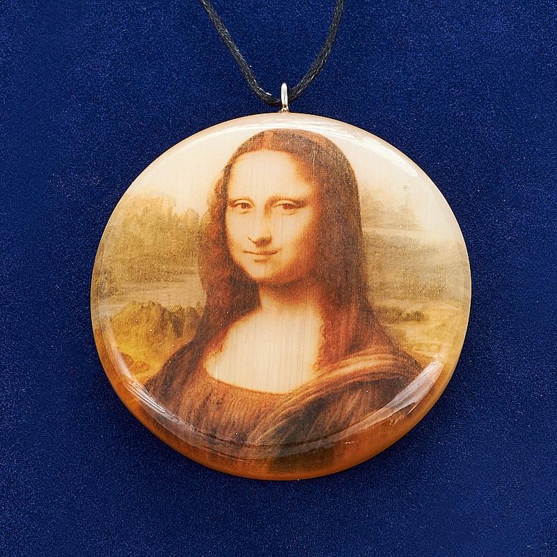 Кулон Мона Лиза селенит 4 см