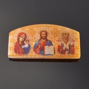 Изображение Триптих для авто селенит Россия 3,5х6 см