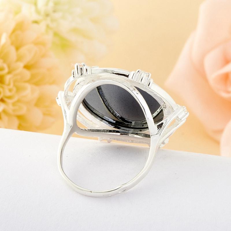 Кольцо гематит Бразилия (серебро)  размер 16,5
