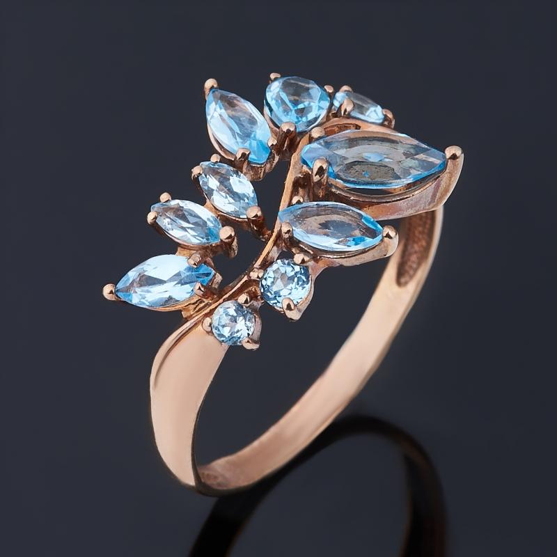 Кольцо топаз swiss огранка (серебро 925 пр., позолота) размер 17,5 кольцо коюз топаз кольцо т242015482