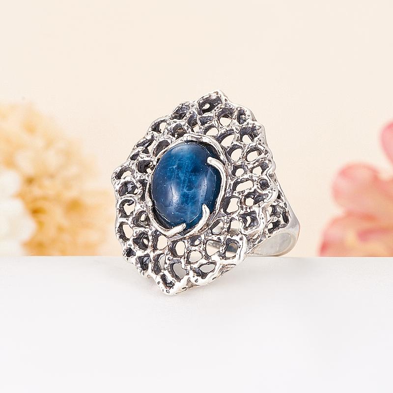 [del] Кольцо апатит синий Бразилия (серебро 925 пр.) размер 14,5