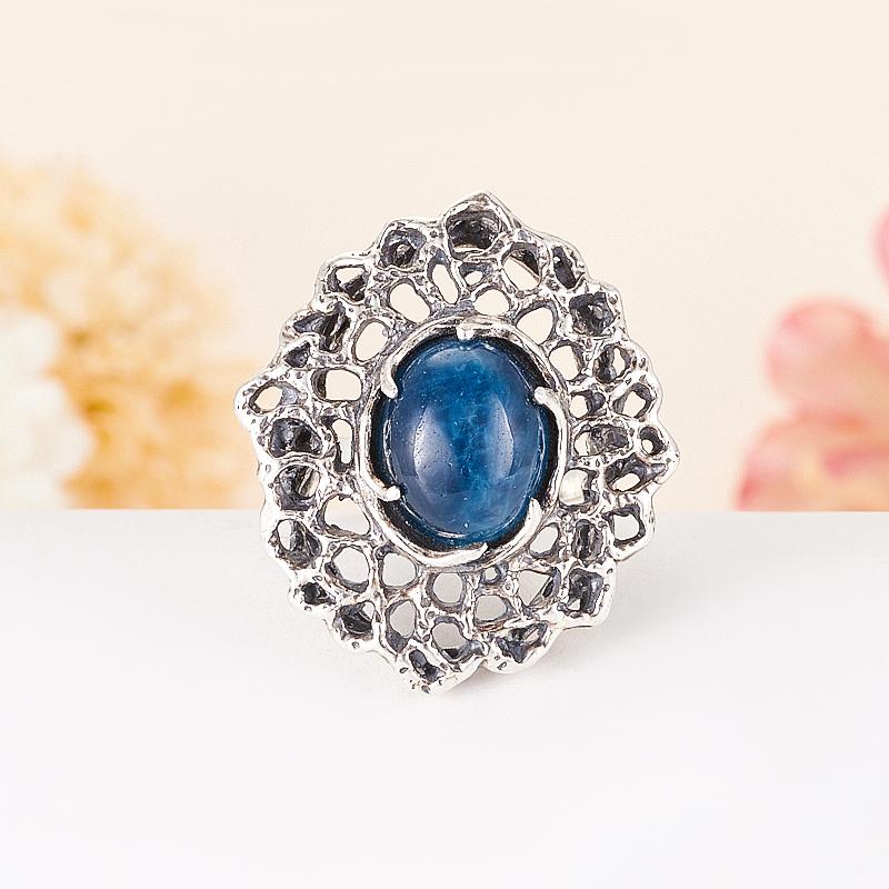 [del] Кольцо апатит синий Бразилия (серебро 925 пр.) размер 16,5