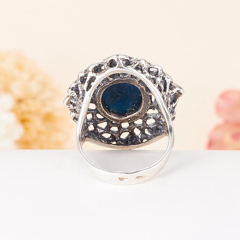 [del] Кольцо апатит синий Бразилия (серебро 925 пр.) размер 20