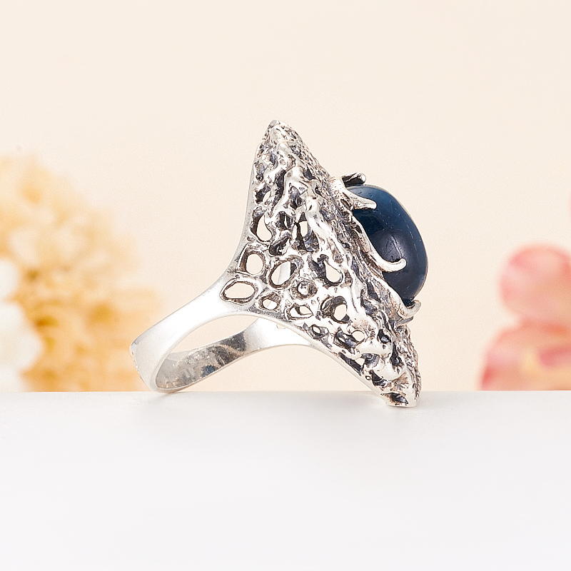 [del] Кольцо апатит синий Бразилия (серебро 925 пр.) размер 21,5