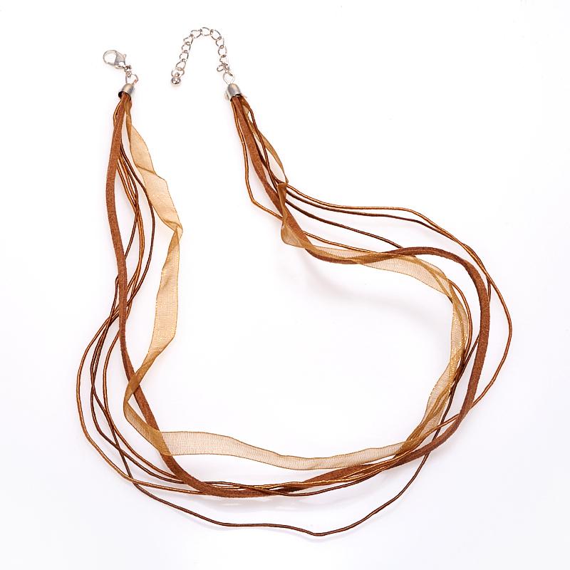 Шнурок коричневый 46-50 см (замша, нейлон)
