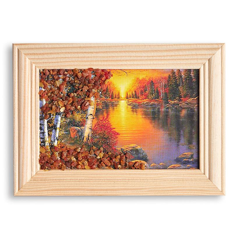 Картина Природа янтарь  8х12 см
