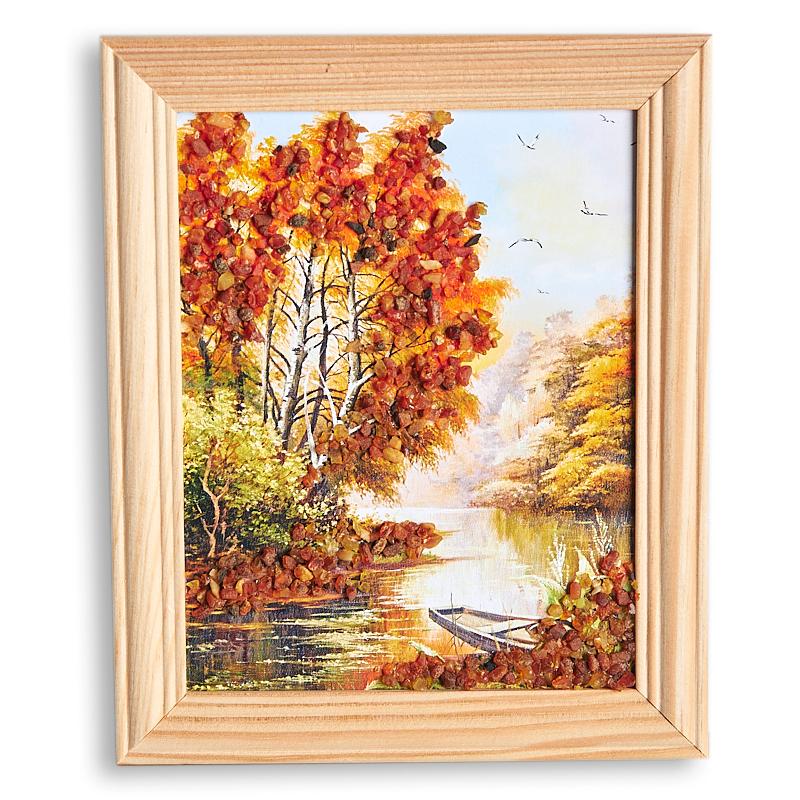 Картина Природа янтарь  12х15 см