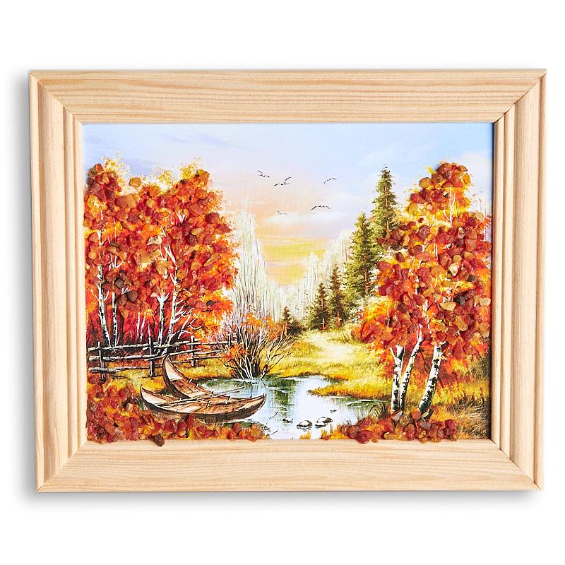 Картина Природа янтарь 12 х 15 см