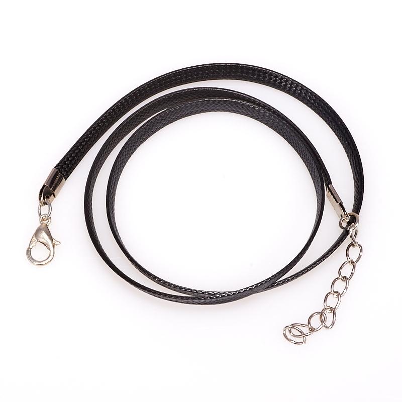 Шнурок черный 45-49 см (текстиль)