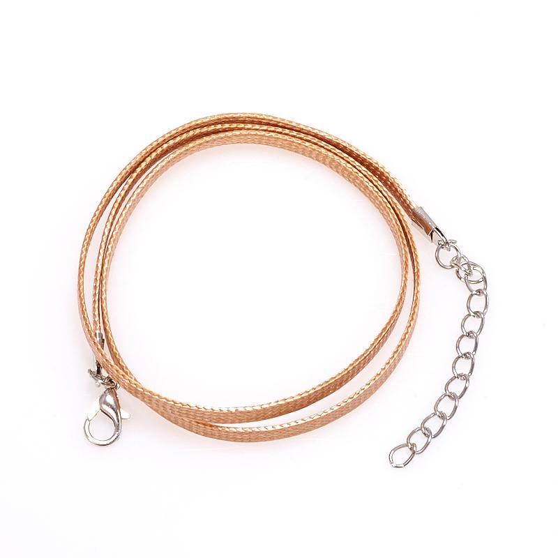 Шнурок бежевый 45-49 см (текстиль)