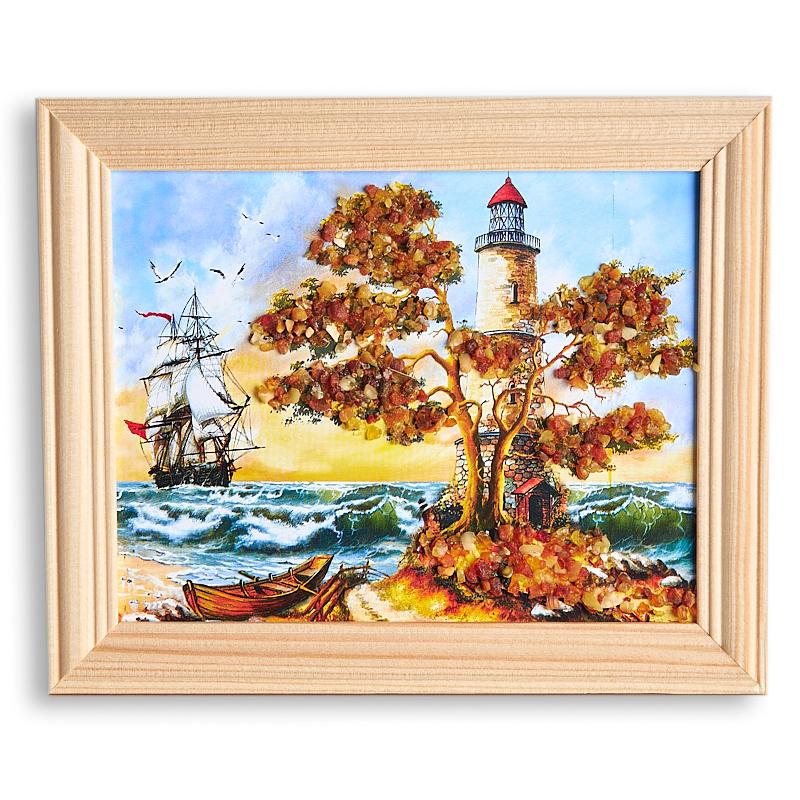 Картина Море янтарь  12х15 см