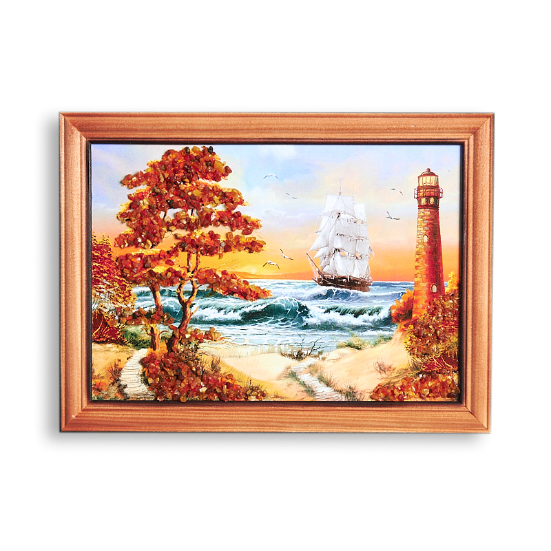 Картина Море янтарь 15*21 см 21