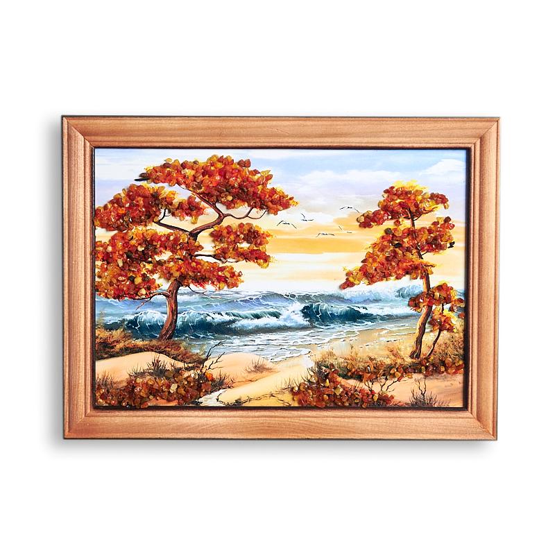 Картина Море янтарь  15*21 см