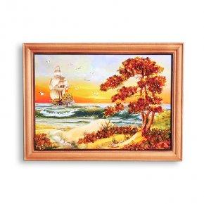 Картина Море янтарь Россия 15*21 см