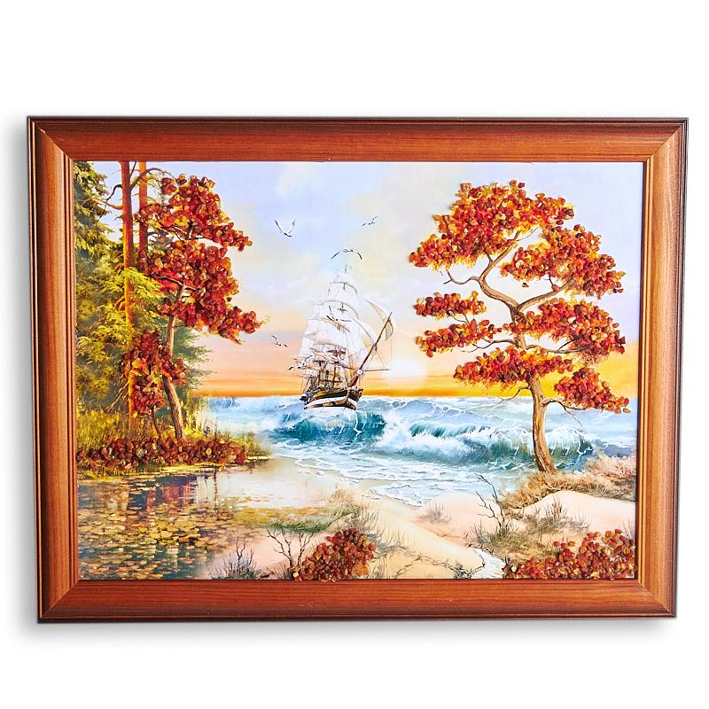 Картина Море янтарь  30х40 см