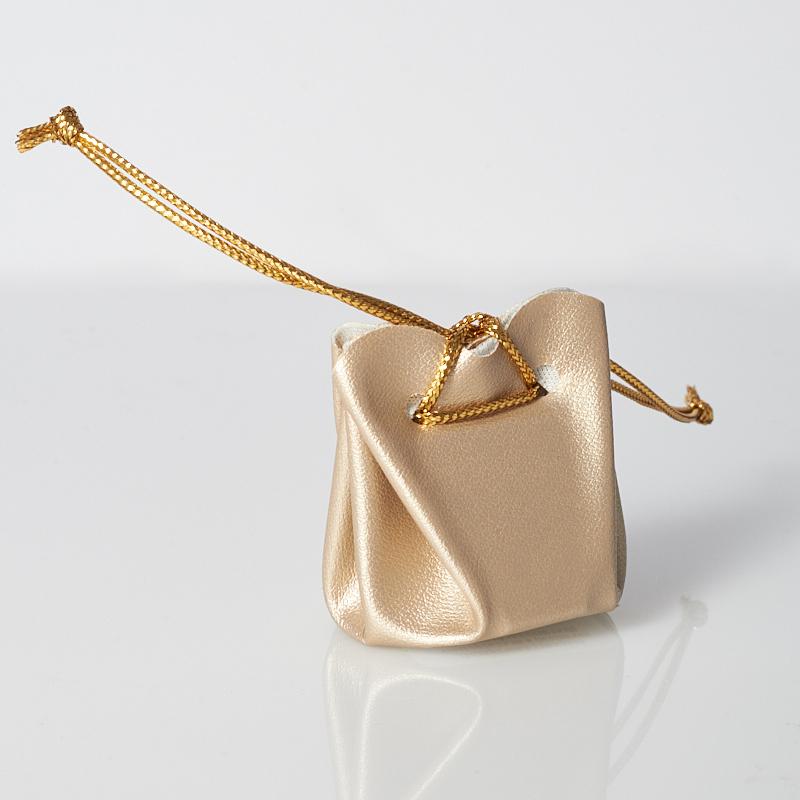 Подарочная упаковка универсальная (мешочек объемный золотистый) 35х35х40 мм