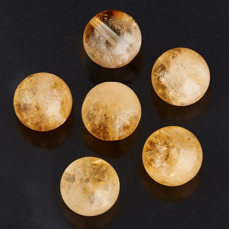 Бусина цитрин шарик 10-10,5 мм (1 шт) бусина агат серый шарик 6 5 мм 1 шт