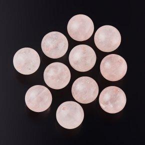 Бусина розовый кварц Намибия шарик 8,5 мм (1 шт)