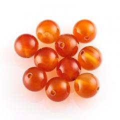 Бусина сердолик оранжевый Ботсвана шарик 8-8,5 мм (1 шт)