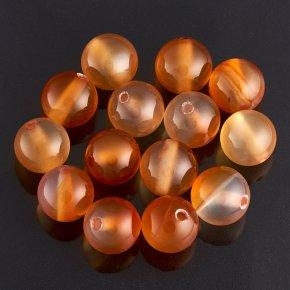 Бусина сердолик светлый Ботсвана шарик 8-8,5 мм (1 шт)