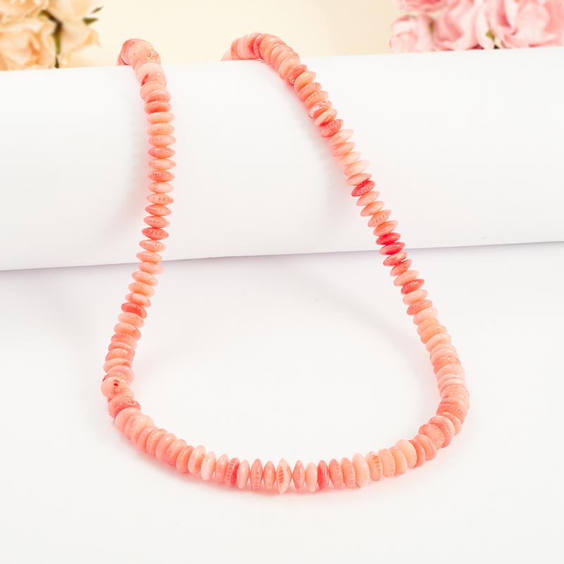 Бусы коралл розовый  44-54 см