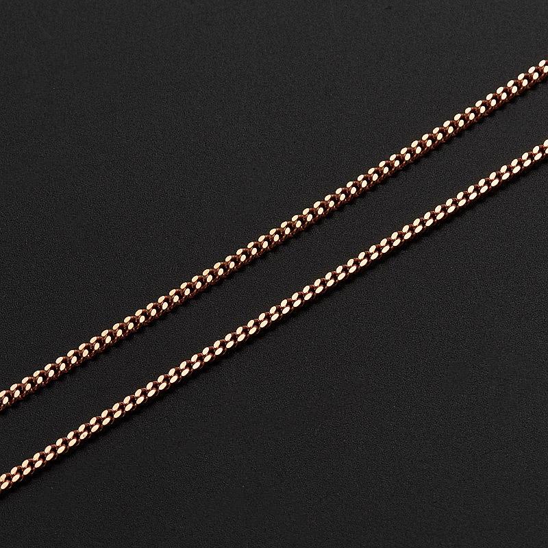 Цепь полновесная панцирь 50 см  (серебро 925 пр., позолота)