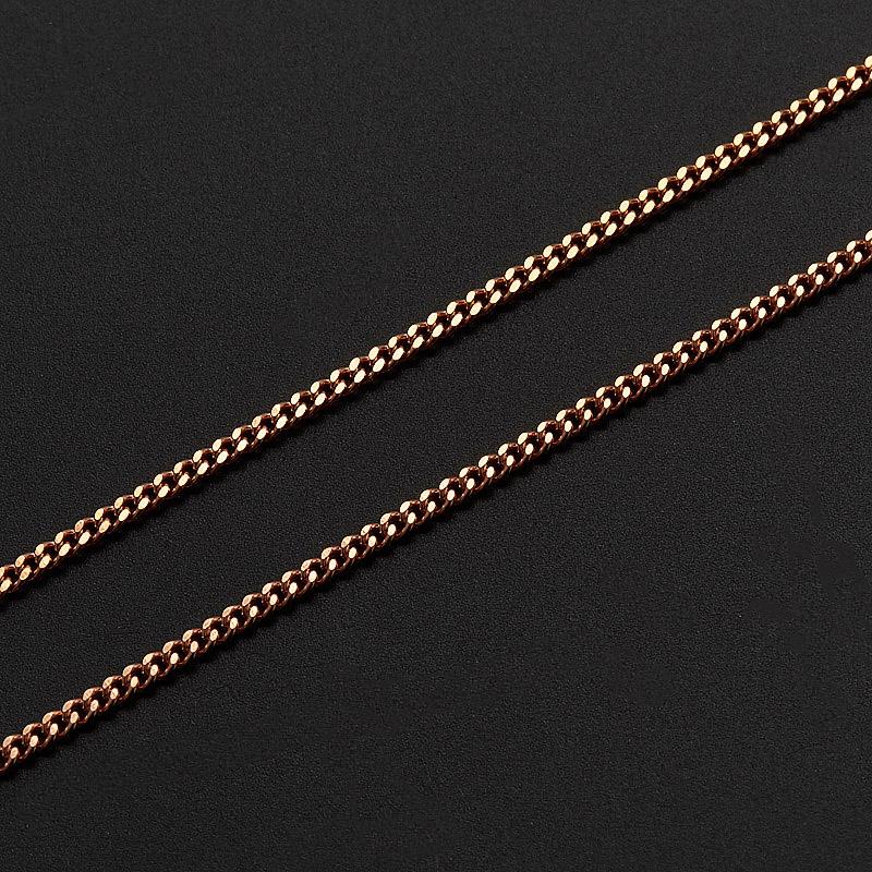 Цепь полновесная панцирь 60 см  (серебро 925 пр., позолота)