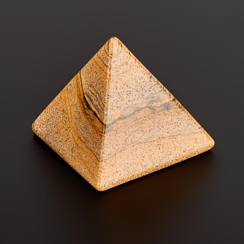 Пирамида яшма рисунчатая  4 см