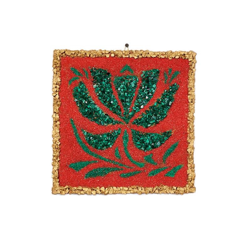 Картина из натуральных камней Магический цветок 30х30 см